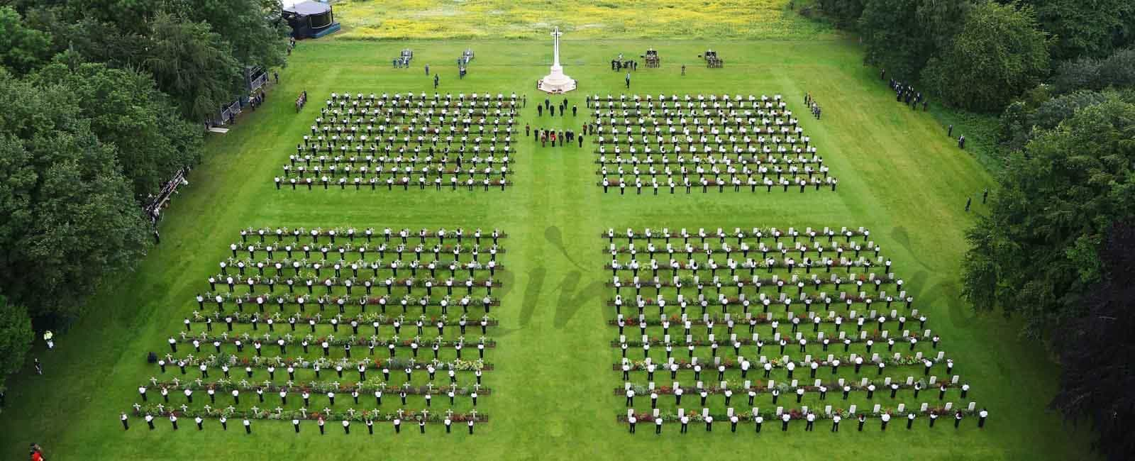 La Familia Real Inglesa, en el 100 aniversario de la batalla de Somme