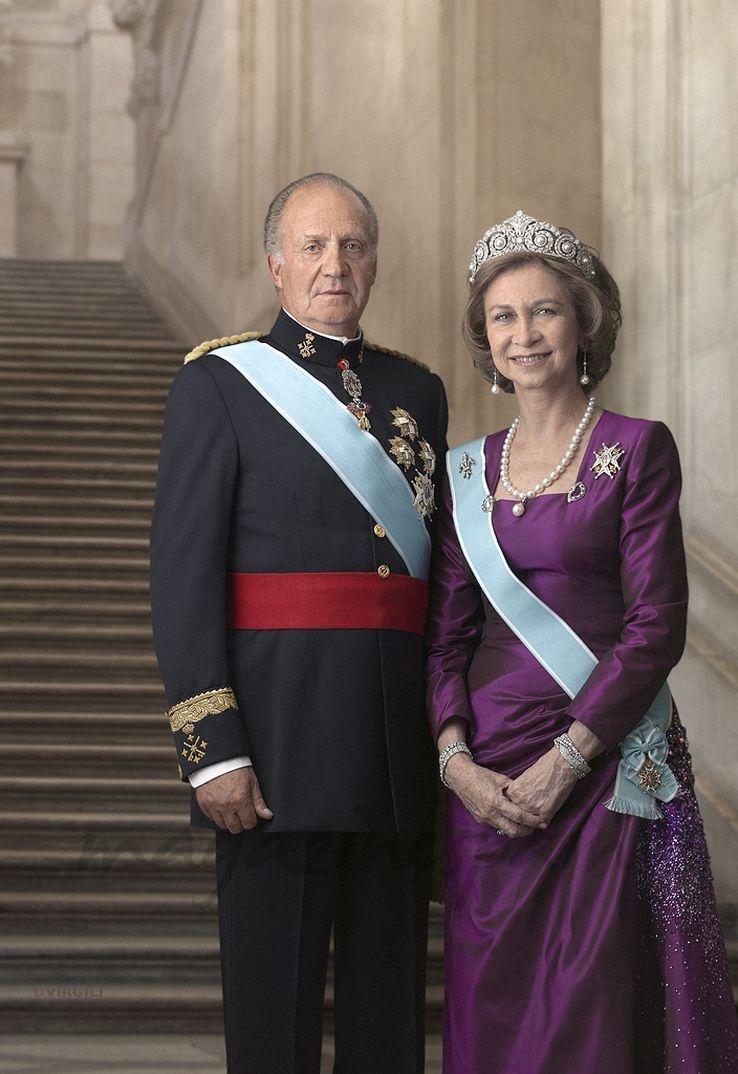 Fotografía oficial de los Reyes don Juan Carlos y doña Sofía - Madrid, 2012 © Casa S.M. El Rey /Dany Virgili