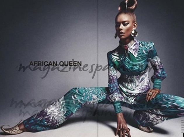 La 'reina africana' se tiñe de negro