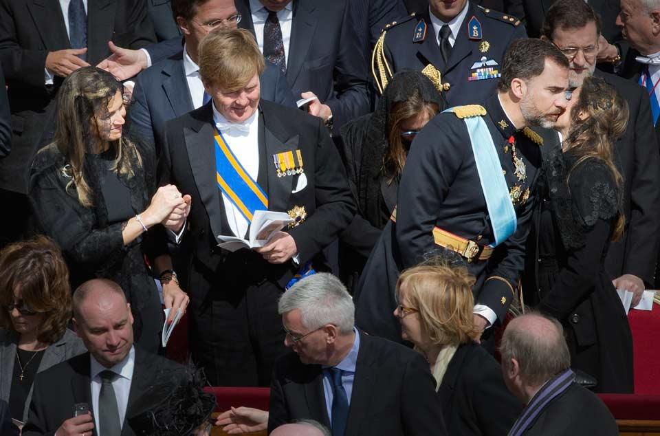 Papa Francisco I misa entronizacion Princesa Maxima, Principe Guillermo, Principe Felipe, Princesa Letizia