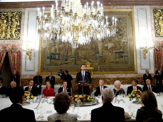 La Familia Real cena con el COI
