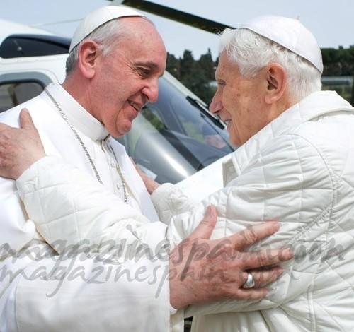Una imagen histórica, Francisco I y Benedicto XVI juntos