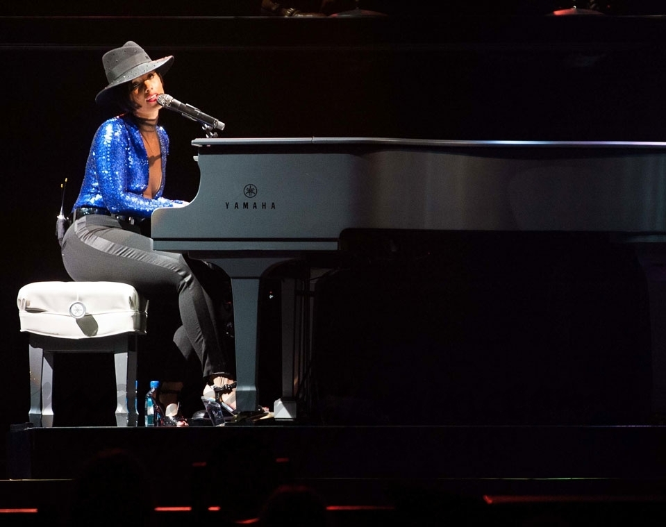 Alicia Keys, en el «O2 Arena» de Londres
