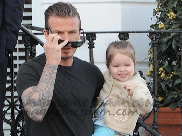 David Beckham y Harper
