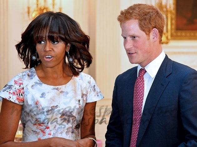 El príncipe Harry y Michelle Obama toman juntos el té