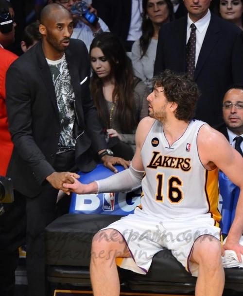 Pau Gasol y Kobe Bryant…¿felecitación o despedida?