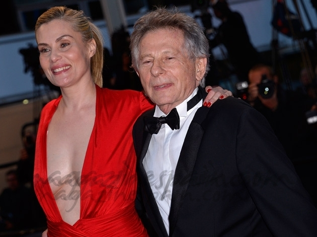 Roman Polanski y su esposa Emmanuelle Seigner en Cannes