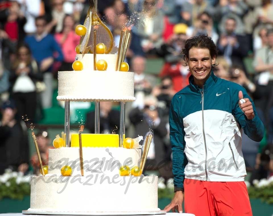 Rafa Nadal celebra su 27 cumpleaños con su mejor partido