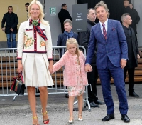 Valeria Mazza and her family attend Gucci fashion show in Milan