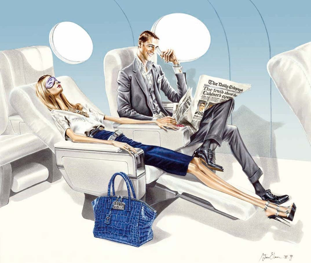 Arturo Elena Ilustración para UPPERCLASS