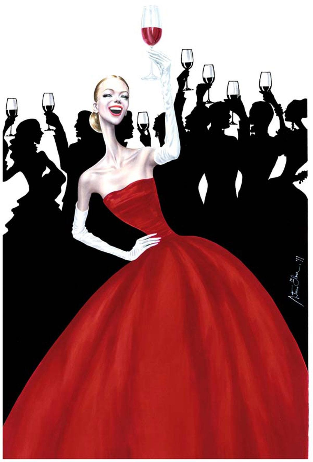 Arturo Elena Ilustración para Viñas del Vero (Somontano)