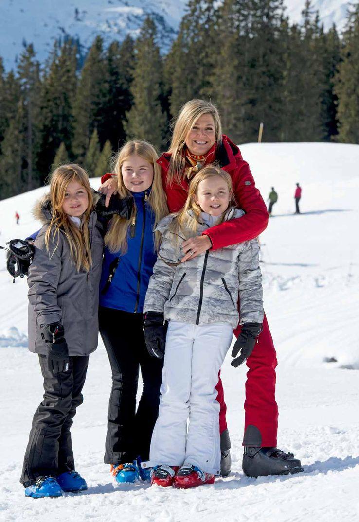 Familia Real Holandesa vacaciones en la nieve de Austria