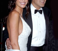 4George Clooney y Lisa Snowdon (2005)