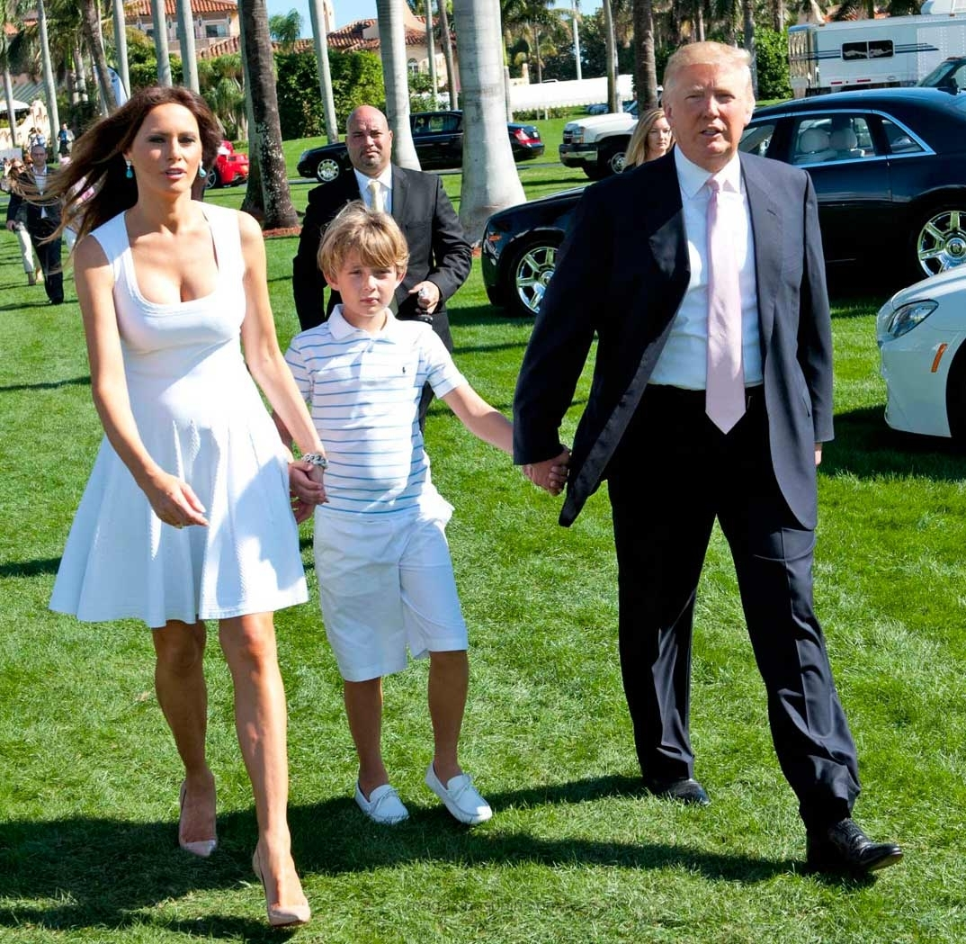 Трамп жена и дети фото
