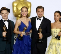 Alicia Vikander, Brie Larson, Leonardo DiCaprio and Mark Rylance