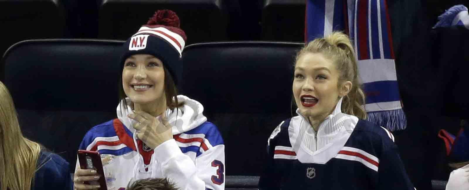 Gigi y Bella Hadid fans de los NY Rangers