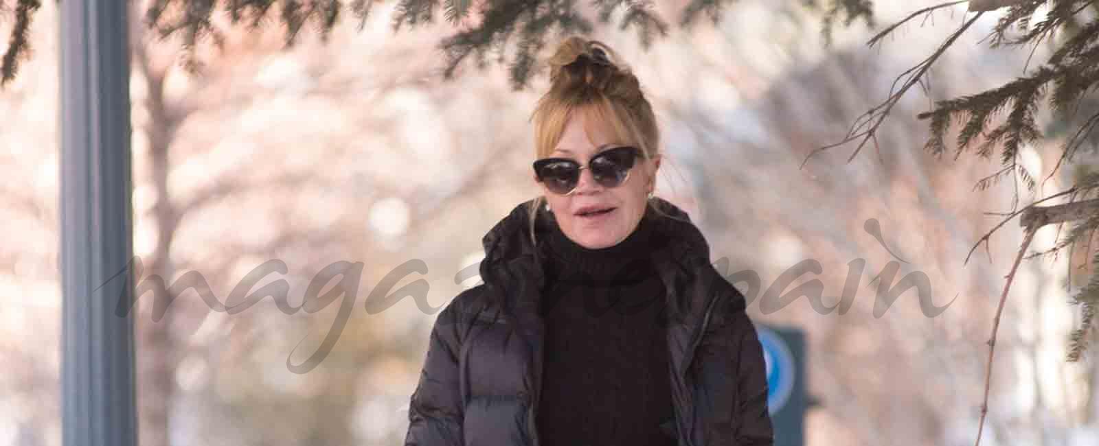 Melanie Griffith vacaciones en solitario en Aspen