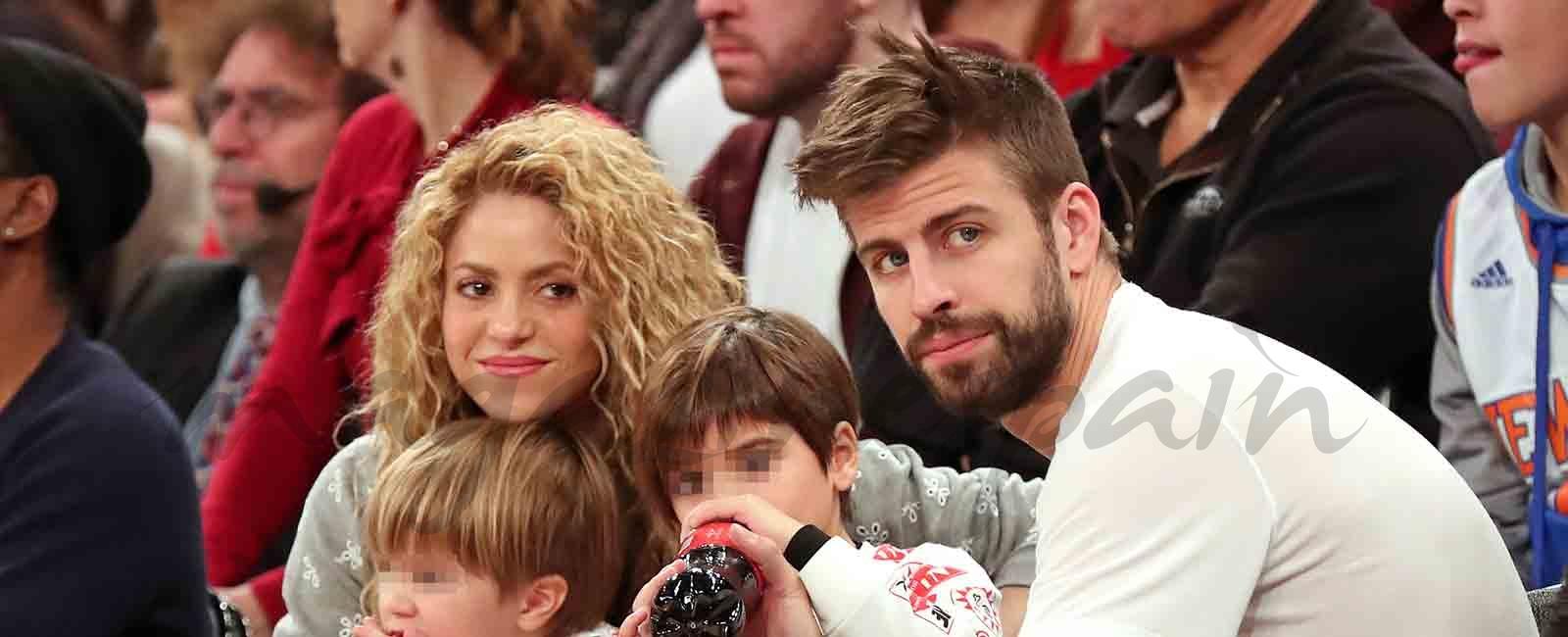 Shakira, Piqué y sus hijos fans de la NBA