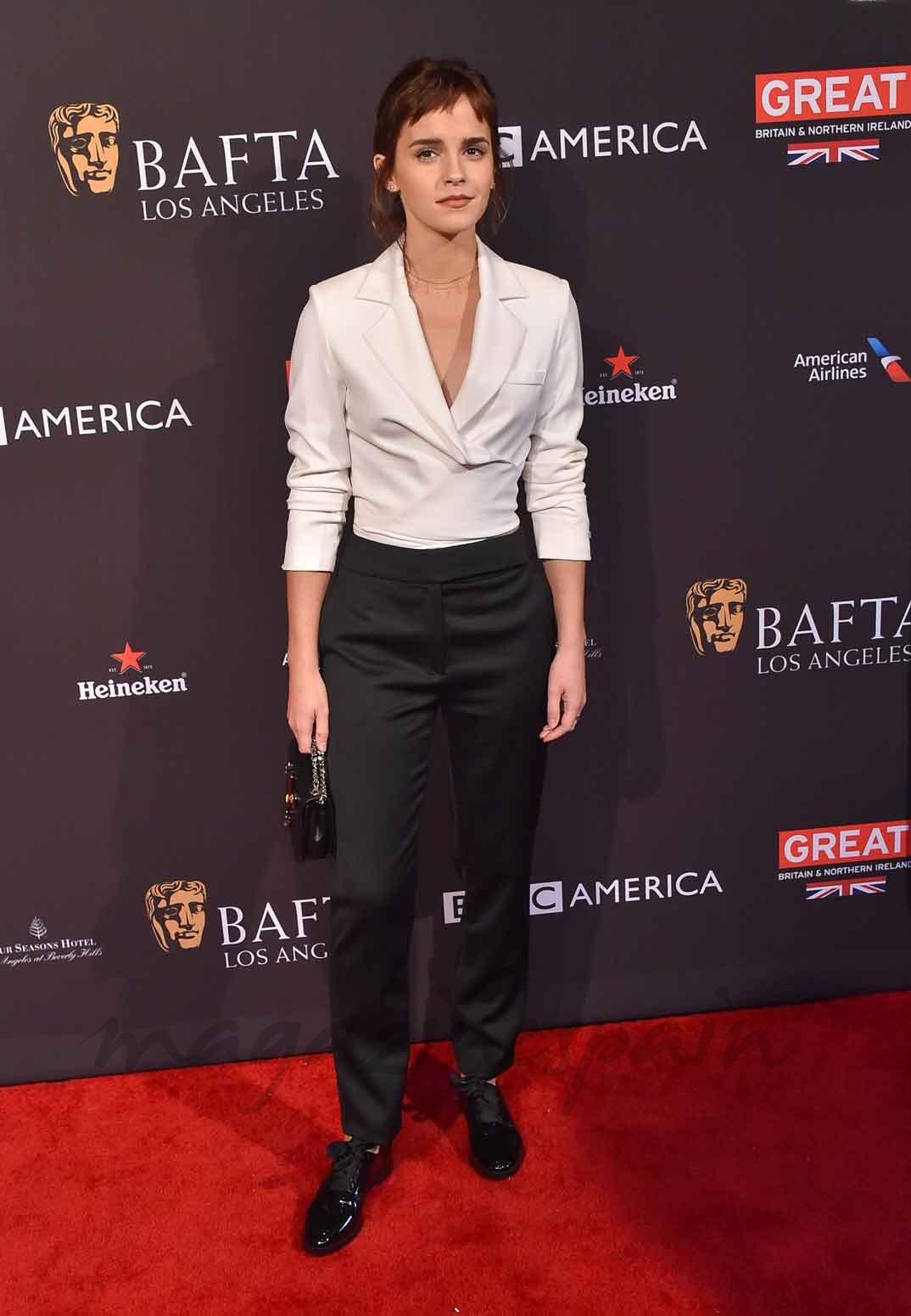 Emma Watson con flequillo Baby bangs