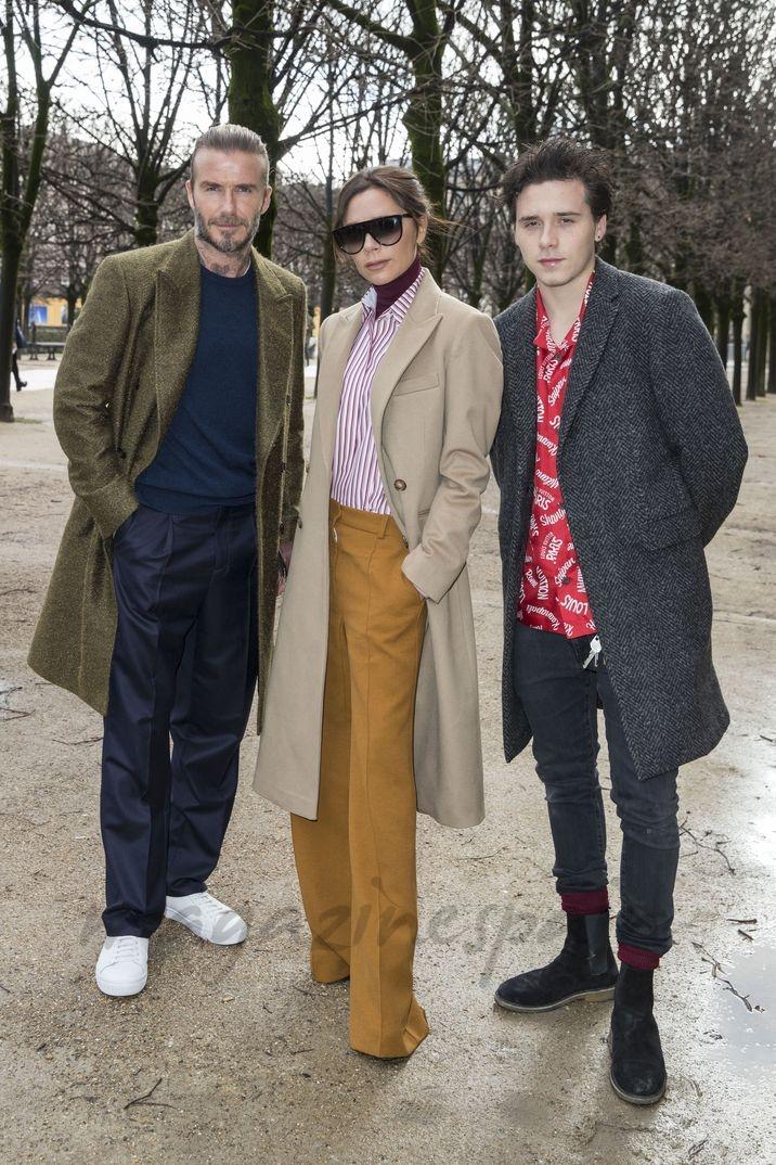 David, Victoria y Brooklyn Beckham