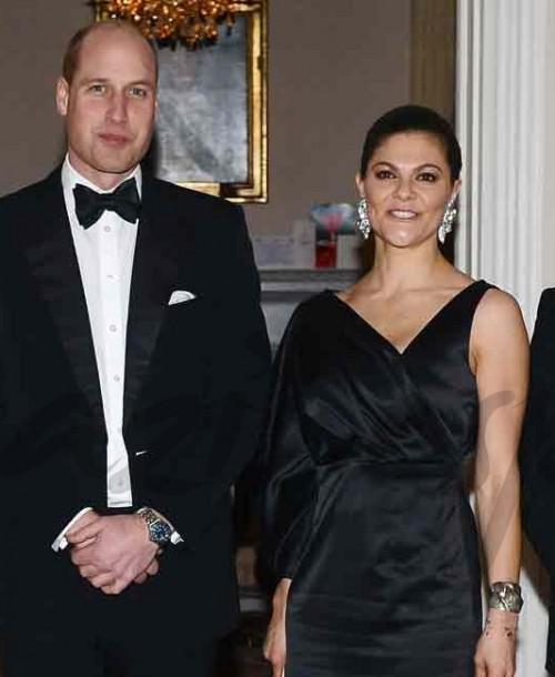 Los Duques de Cambridge, cena de gala en Suecia