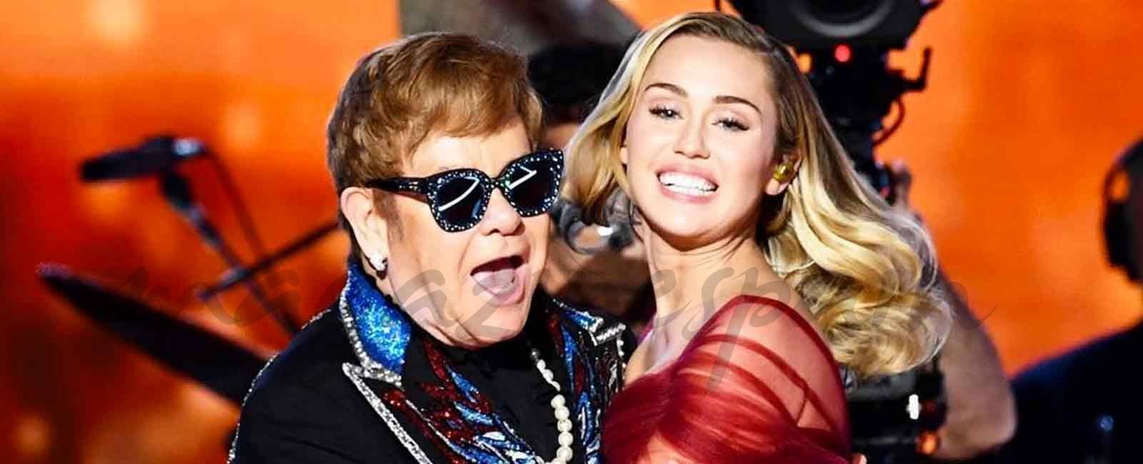La increíble actuación de Miley Cyrus junto a Elton John en los Grammy 2018