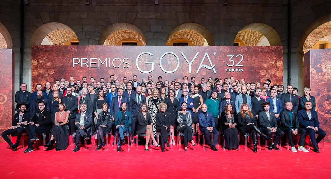 Foto familia nominados Goya 2018 ©Alberto Ortega - Cortesía de la Academia de Cine
