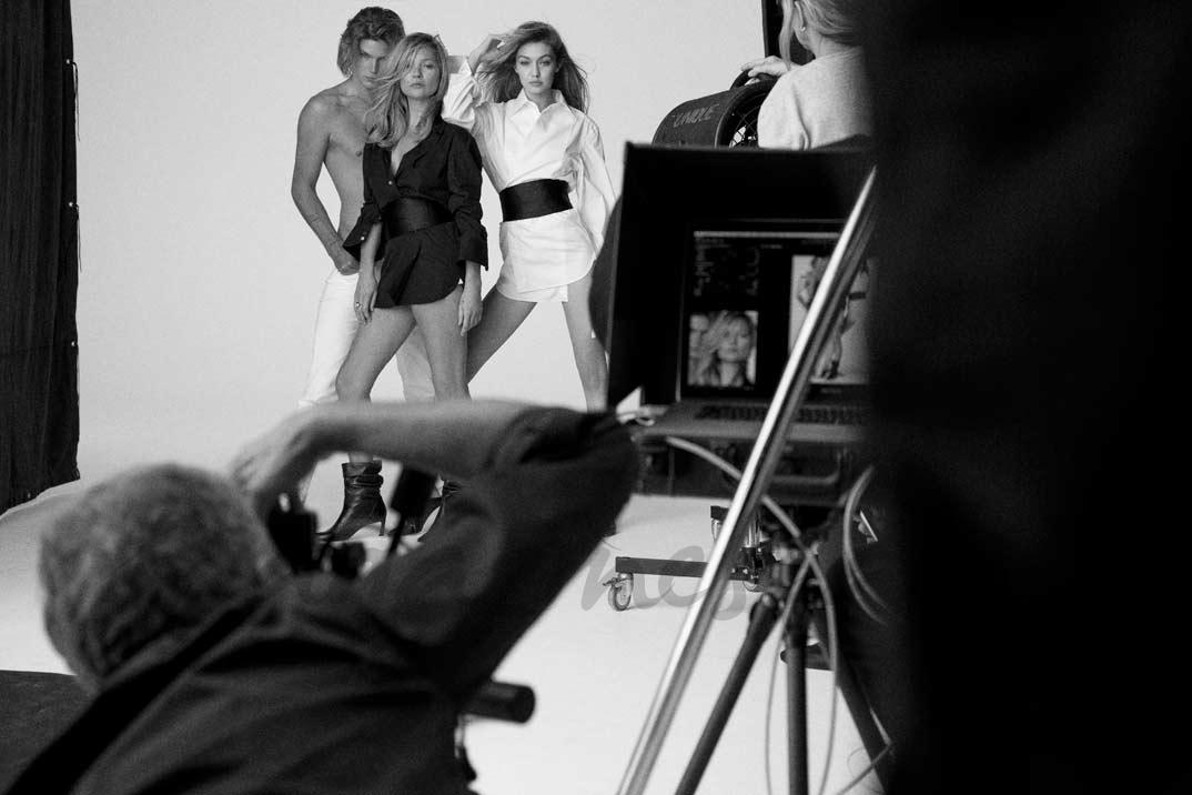 Gigi Hadid y Kate Moss © Stuart Weitzman