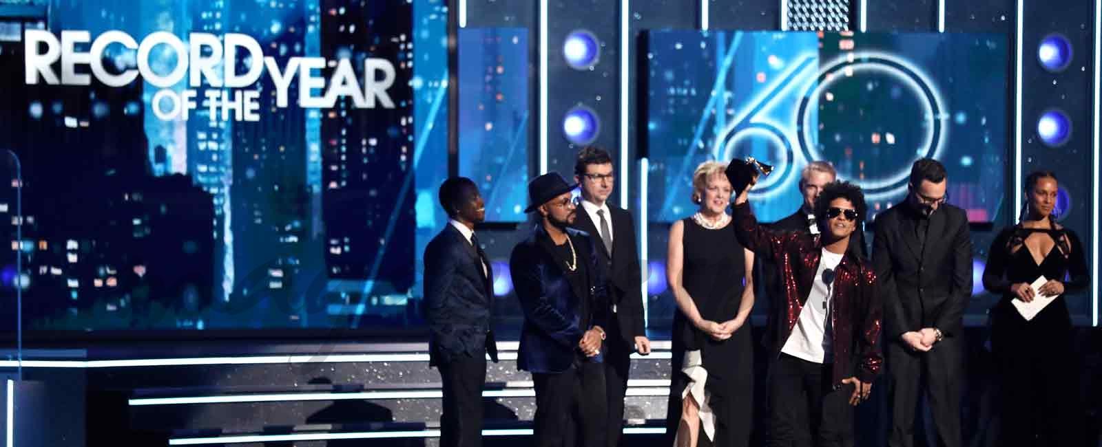 Bruno Mars, el gran triunfador de los Grammy 2018