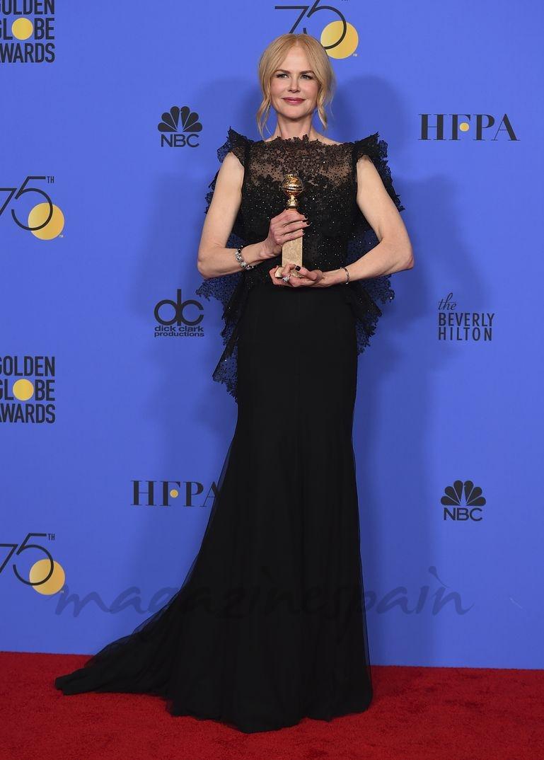 "Nicole Kidman- Mejor actriz miniserie o película de televisión por su papel en ""Big little lies""."