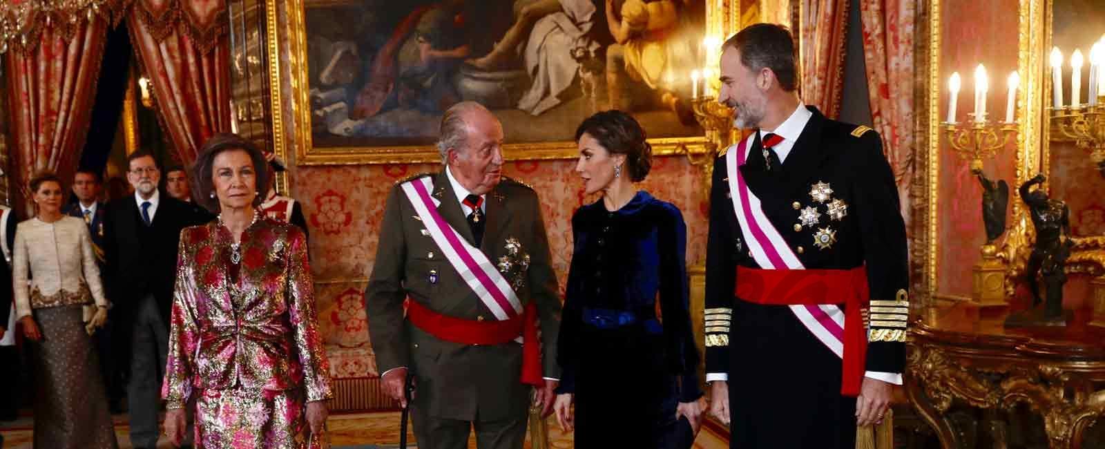 Los Reyes Felipe y Letizia presiden la Pascua Militar con los Reyes Eméritos