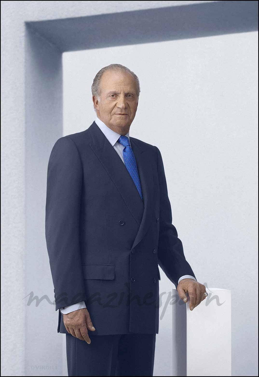 Posado oficial del Rey Juan Carlos en el Palacio de la Zarzuela en Madrid (11/03/2007)