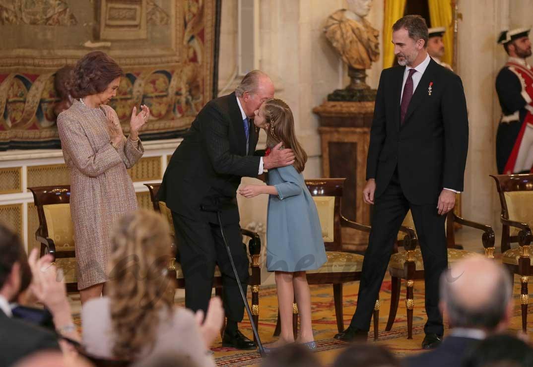 Reina Sofía, rey Juan Carlos, princesa Leonor y rey Felipe