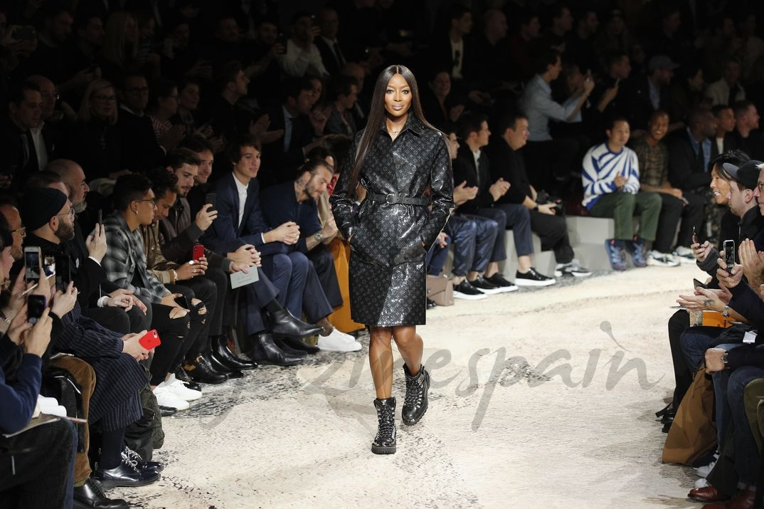Naomi Campbell- Paris Men Fashion Week - Louis Vuitton Otoño-Invierno 2018