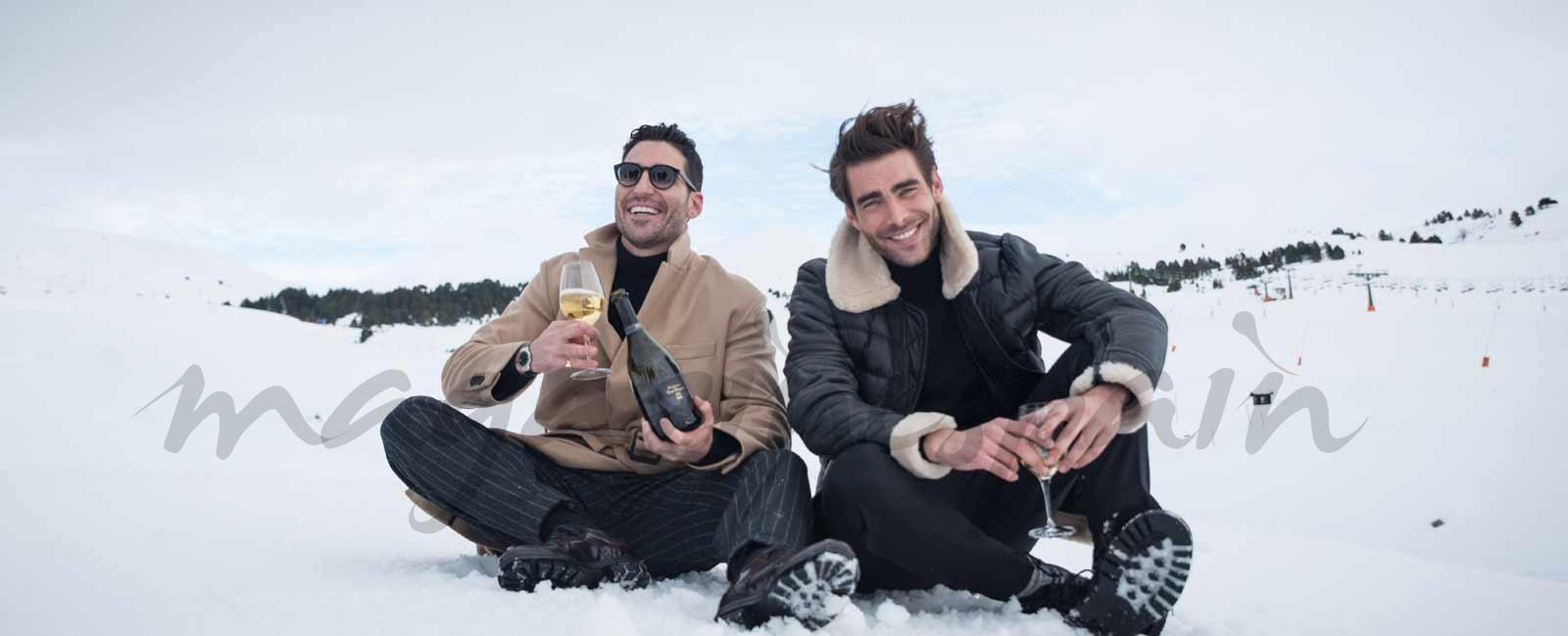 Miguel Ángel Silvestre y Jon Kortajarena se divierten en la nieve