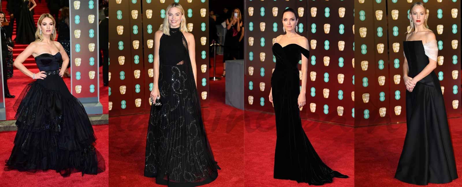 Los mejores looks de la alfombra roja – vestida de negro – de los Premios Bafta 2018