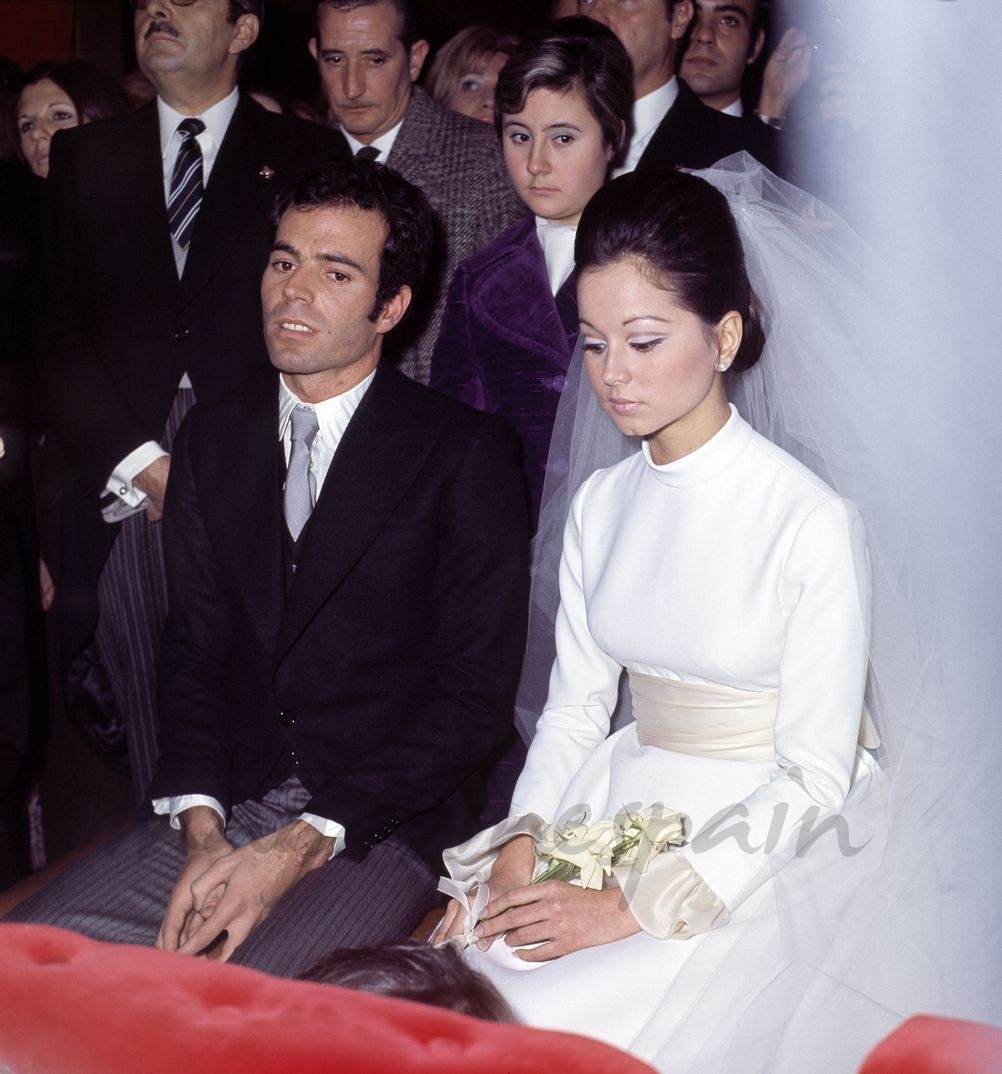 Julio Iglesias boda Isabel Preysler - 1971