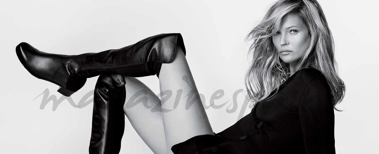 Kate Moss, modelo de Stuart Weitzman en el 25 aniversario de la bota 50/50