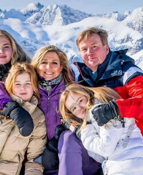 Máxima y Guillermo de Holanda, posado familiar en la nieve