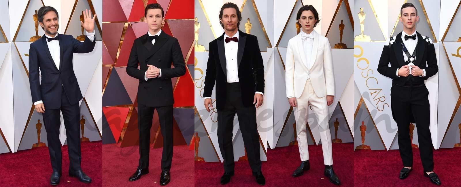 Clásicos, reivindicativos y originales… Ellos también marcan tendencia en la red carpet de los Oscars 2018
