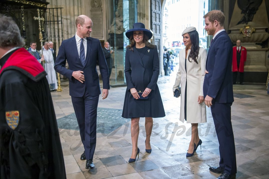 Los Duques de Cambridge, Meghan Markle y el príncipe Harry
