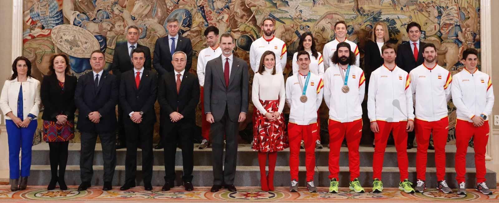 Los Reyes felicitan al equipo olímpico español de PyeongChang 2018