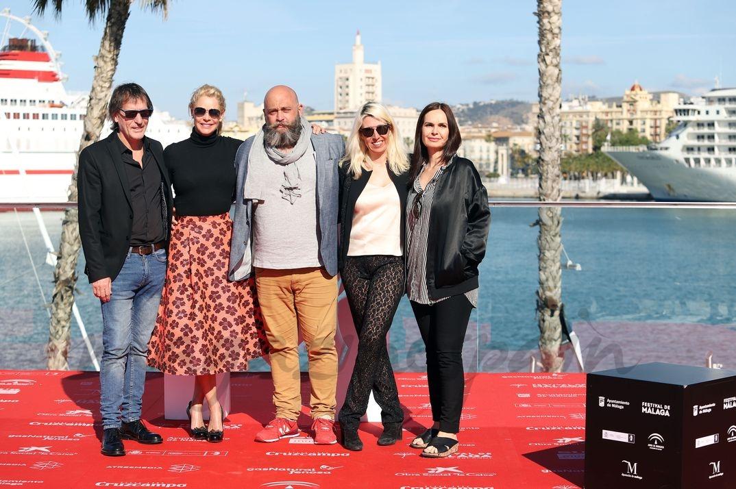 """Belén Rueda con el equipo de """"No dormirás"""" © Alex Zea/Festival de Cine de Málaga"""