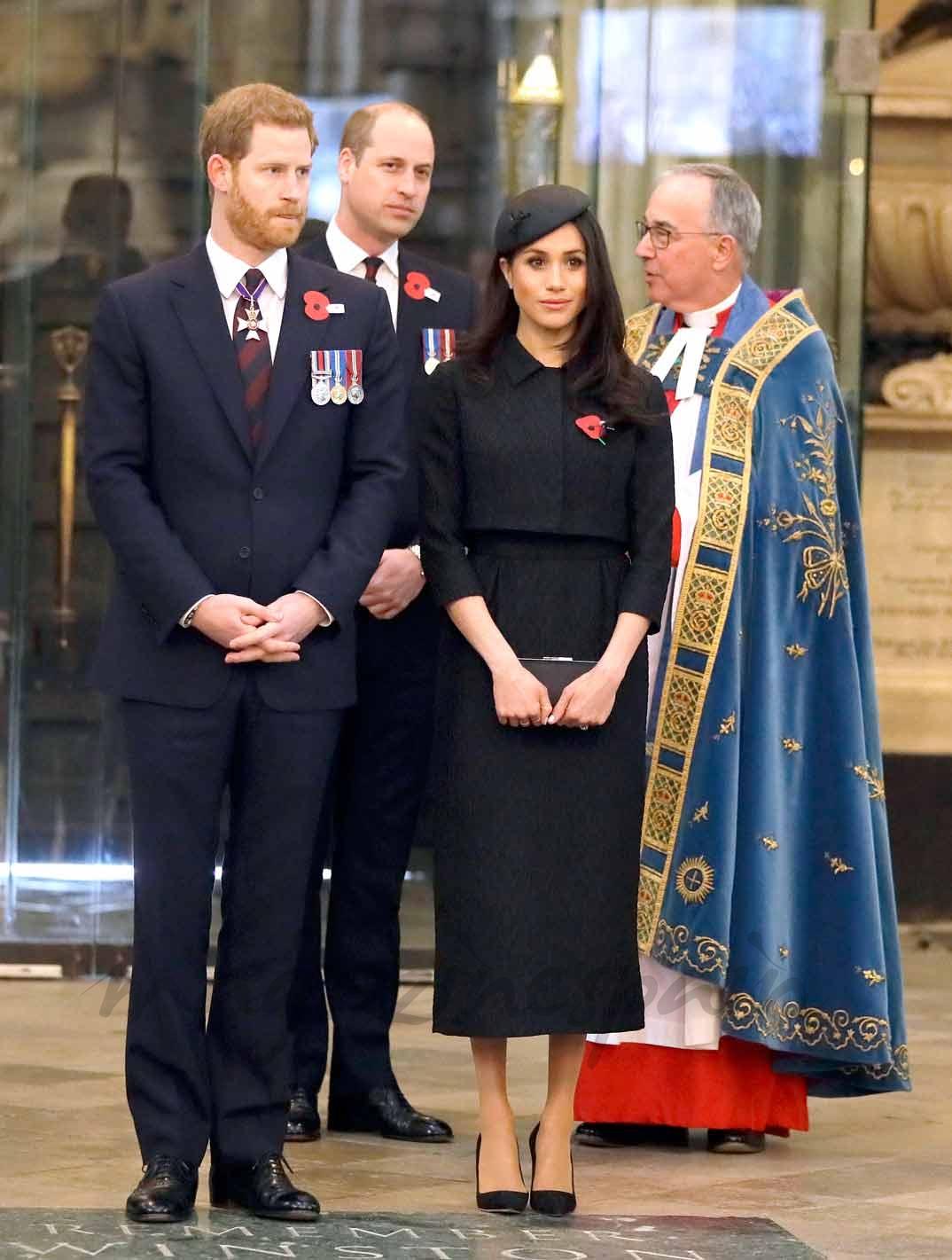 Príncipe Guillermo, Meghan Markle y Príncipe Harry