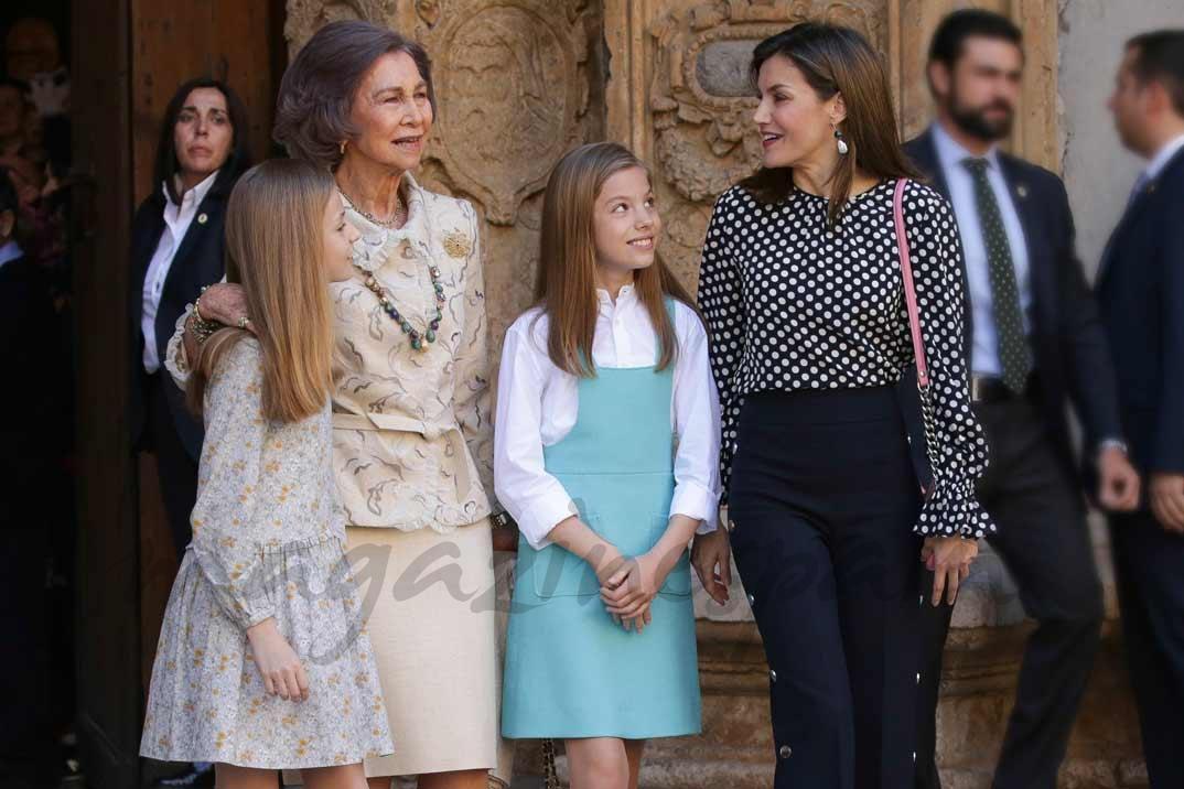 Princesa Leonor, Reina Sofia, Infanta Sofia, Reina Letizia