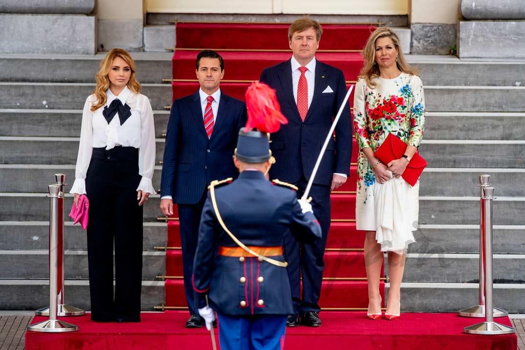 Angélica Rivera, Enrique Peña Nieto, Rey Guillermo de Holanda y Reina Máxima de Holanda