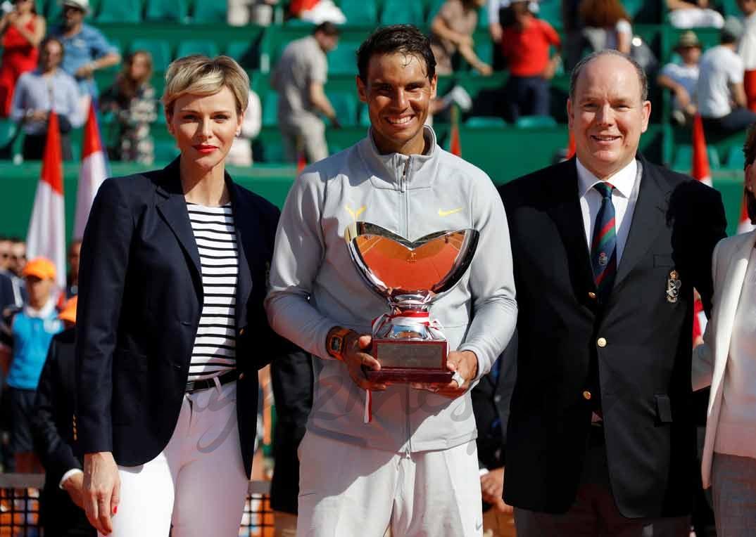 Príncipes Alberto y Charlene de Mónaco con Rafa Nadal