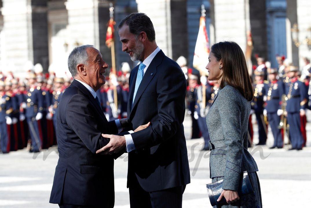 Los Reyes reciben al Presidente de Portugal © Casa S.M. El Rey