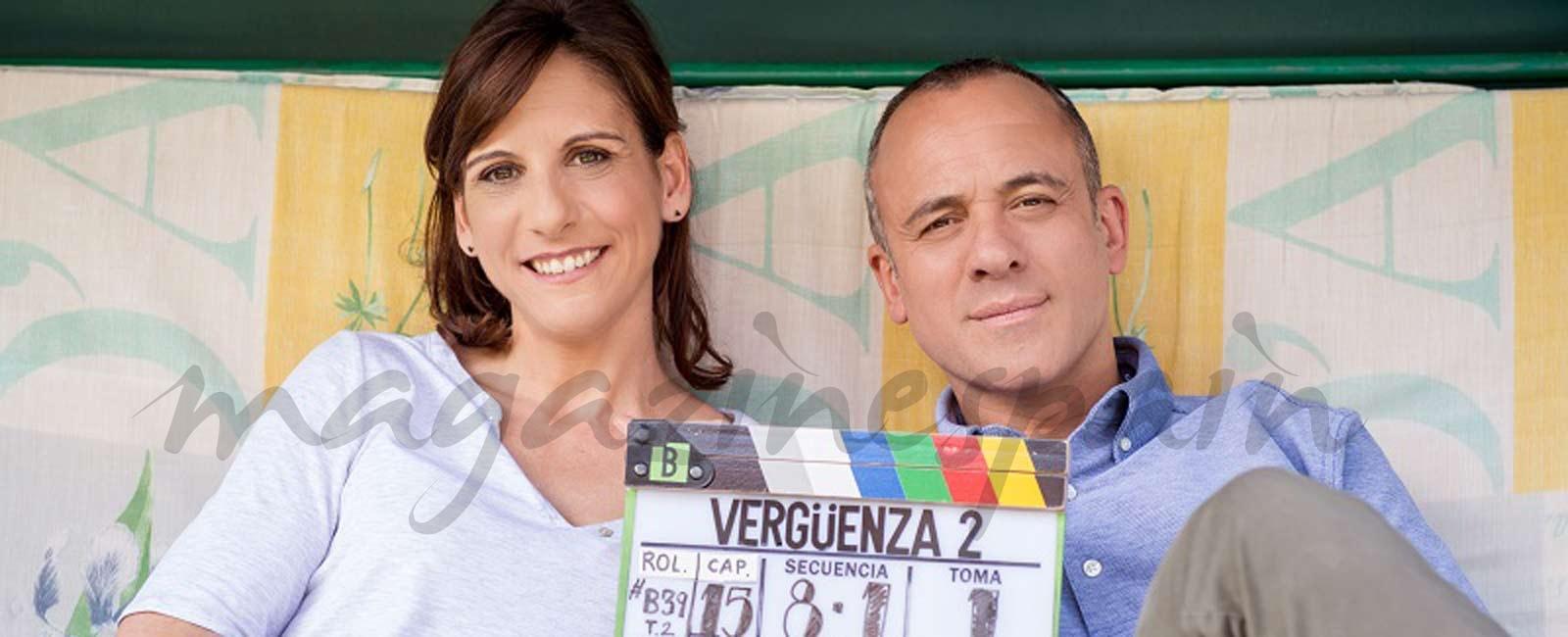 Así ha sido la primera semana de rodaje de  la segunda temporada de 'Vergüenza'
