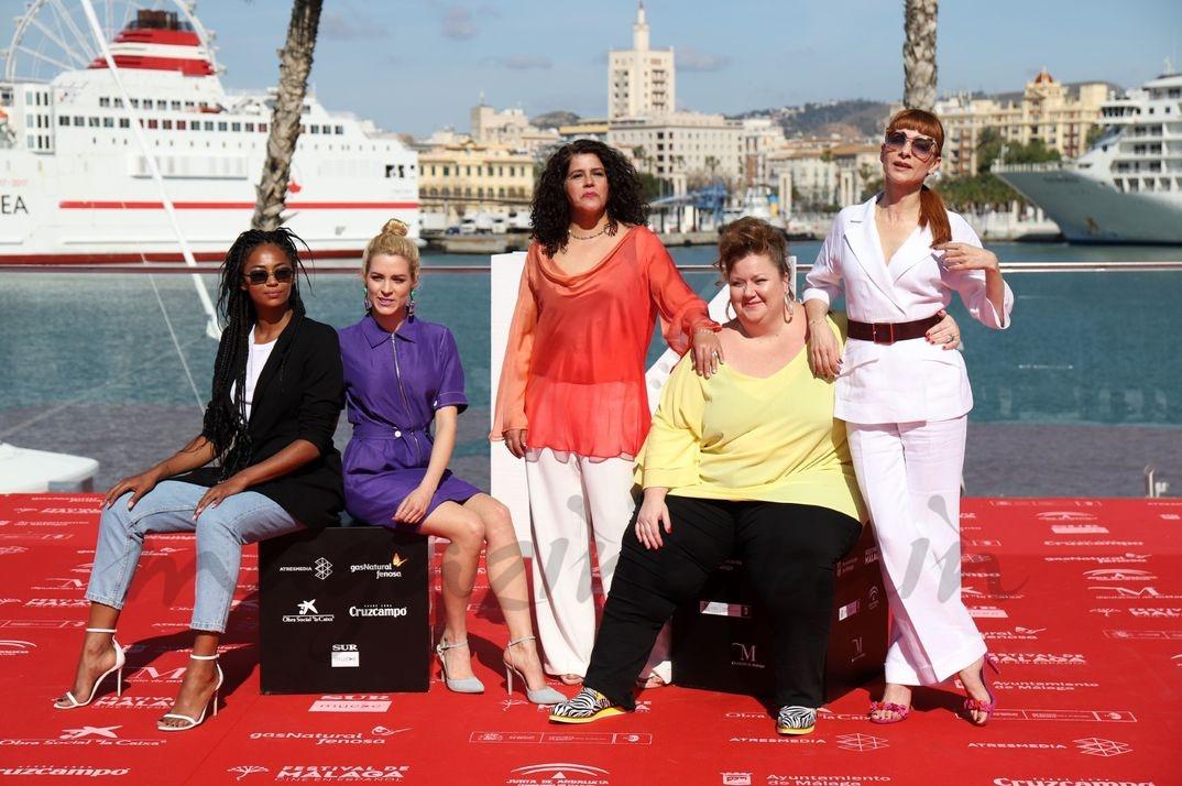 Berta Vázquez, Maggie Civantos, Itziar Castro, Laura Baena y Nawja Nimri © Alex Zea/Festival de Cine de Málaga